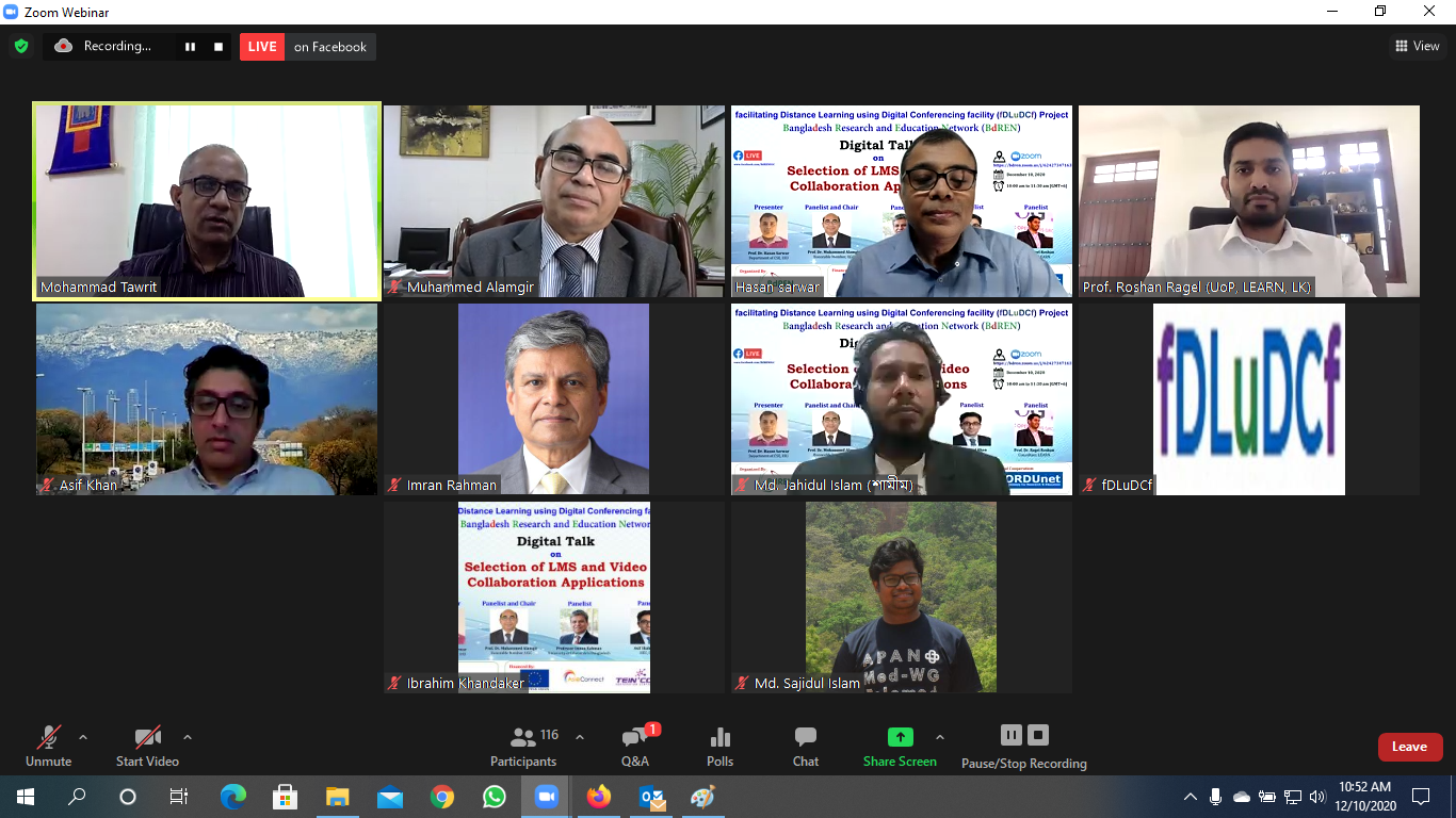 "Digital Talk on ""Selection of LMS and Video Collaboration Applications"""